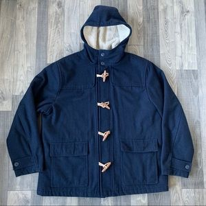 OLD NAVY Wool Toggle Coat - Sherpa Lined